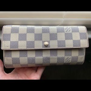 Louis Vuitton Sarah Damier azure wallet